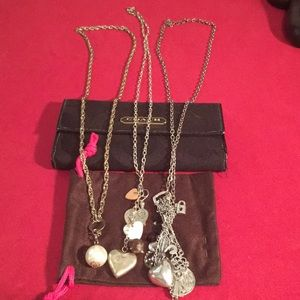 Jewelry - THREE long charm necklaces!